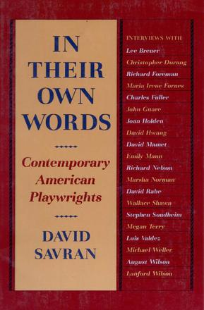 In Their Own Words - Contemporary American Playwrights